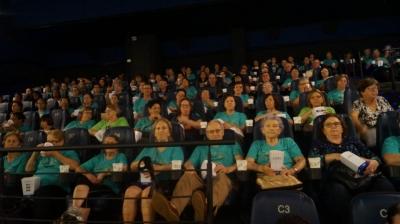 No cinema, pela primeira vez