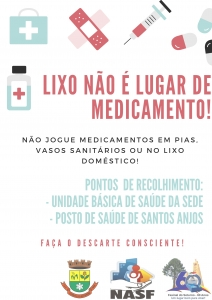Secretaria da Saúde lança campanha de recolhimento e descarte de medicamentos