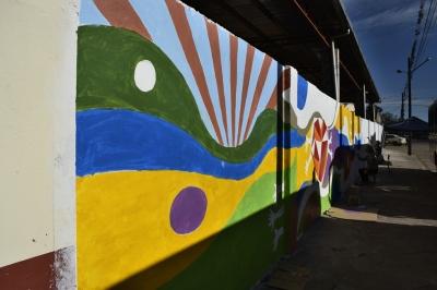 Muro da Secretaria de Obras de cara nova