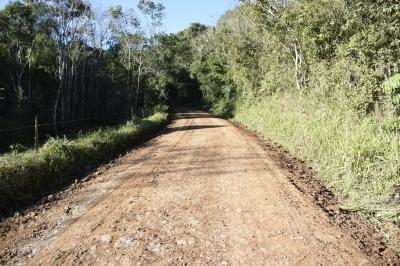 Melhorias na estrada do Cerro Comprido