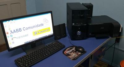 Programa AABB Comunidade recebe computador e impressora