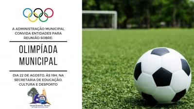 Reunião sobre a Olimpíada Municipal acontece nesta quinta-feira (22)
