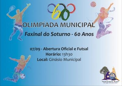 Olimpíada Municipal começa neste sábado (7)