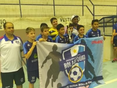 Bola de Ouro e Secco vencem o 3º Torneio da Escolinha Municipal