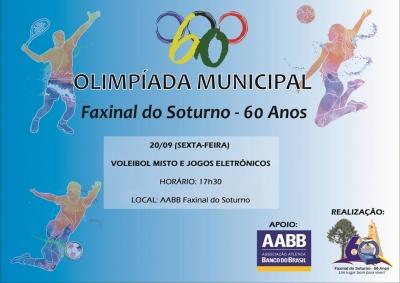 Olimpíada Municipal tem continuidade com vôlei e jogos eletrônicos