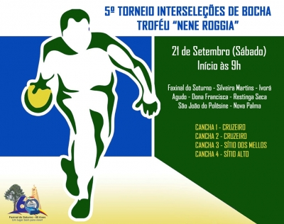 5º Torneio Interseleções de Bocha reúne oito equipes neste sábado (21)