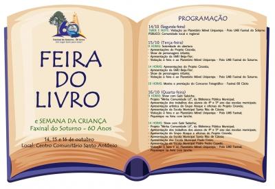 Feira do Livro e Semana da Criança ocorrem de 14 a 16 de outubro