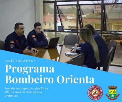 """Programa """"Bombeiro Orienta"""" volta a Faxinal nesta quarta-feira (9)"""