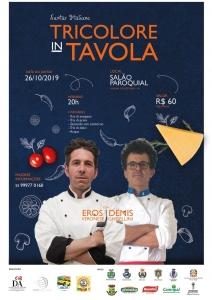 Società Italiana promove jantar e curso de gastronomia típica