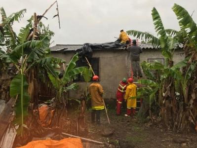 Temporal destelha casas e causa prejuízos em Faxinal do Soturno