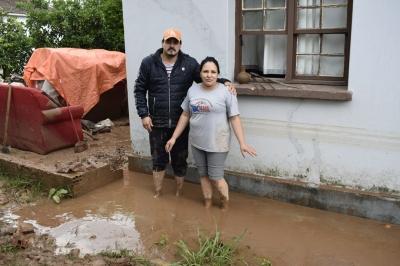 Chuva alagou nove casas em Faxinal do Soturno