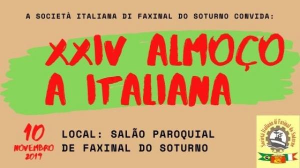 24º Almoço à Italiana acontece neste domingo (10)