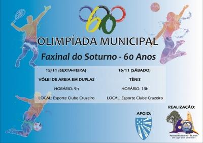 Olimpíada Municipal terá duas modalidades no feriadão