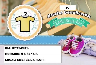 EMEI Beija-Flor realizará brechó