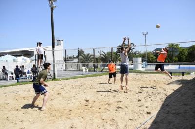 Vôlei de areia e tênis movimentaram a Olimpíada Municipal