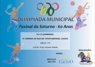 2ª Corrida de Rua Dr. Vitor Emanuel Cassol concluirá a Olimpíada Municipal