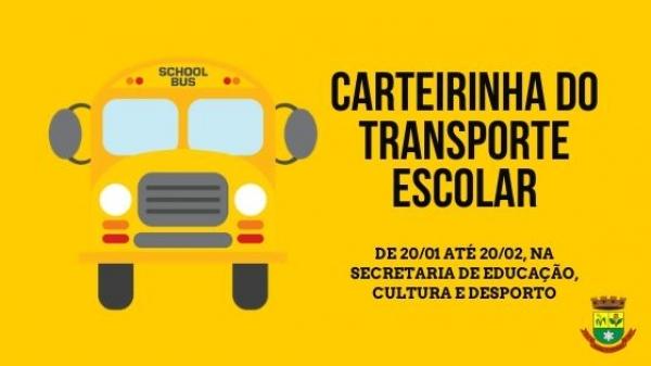Carteirinha do transporte escolar pode ser feita a partir do dia 20