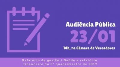 Prefeitura realiza Audiência Pública nesta quinta-feira (23)