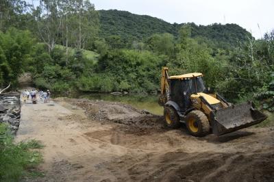 Prefeitura inicia recuperação de barragem no Rio Soturno