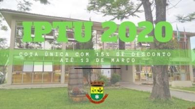 Guias do IPTU já podem ser retiradas na Prefeitura