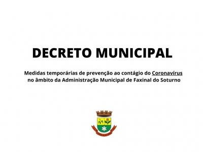 Faxinal do Soturno suspende aulas da rede municipal e atividades que possam ter aglomeração de pessoas