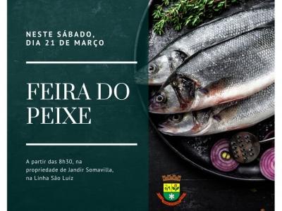 Feira do Peixe acontece neste sábado na Linha São Luiz