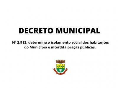 Novo Decreto determina isolamento social em Faxinal do Soturno