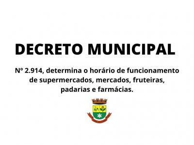Novo Decreto determina horário de funcionamento de mercados e farmácias