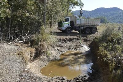 Entrega de água nas propriedades rurais está aumentando