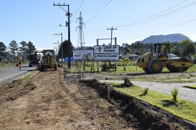Della Pasqua Engenharia inicia obra de asfaltamento da ciclovia