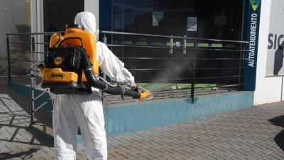 Camnpal e Prefeitura fazem sanitização em Faxinal do Soturno nesta quarta-feira (22)