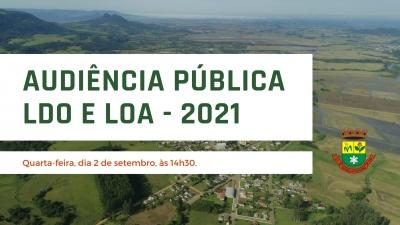 Prefeitura realiza Audiência Pública sobre a LDO e LOA 2021