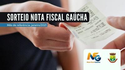Realizado sorteio de janeiro do Nota Fiscal Gaúcha