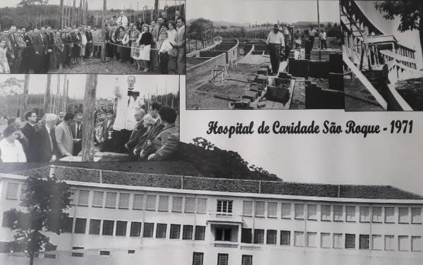 Inauguração do Hospital de Caridade São Roque, em 1971