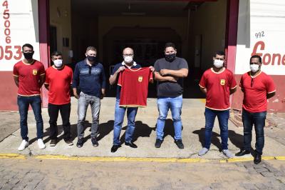Prefeito se reúne com a nova diretoria dos Bombeiros Voluntários