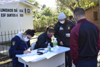 Mais 156 pessoas recebem a 1ª dose da vacina contra a Covid-19