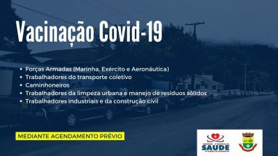 Saúde vai vacinar contra a Covid-19 militares e profissionais do transporte, limpeza urbana e coleta de lixo, indústria e construção civil