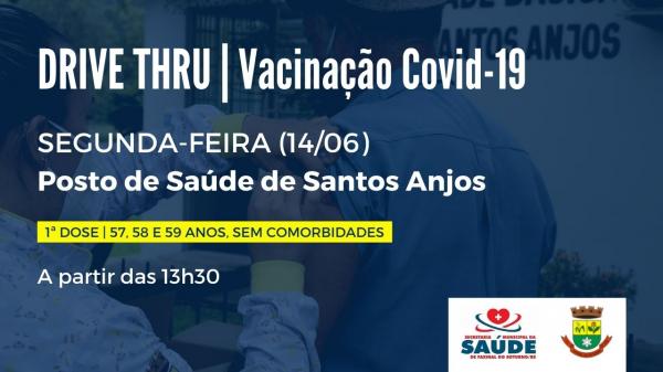 Posto de Saúde de Santos Anjos terá vacinação contra a Covid-19 na segunda-feira (14)