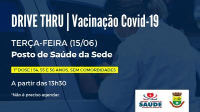 Pessoas com 54, 55 e 56 anos podem receber a vacina contra a Covid-19 nesta terça-feira (15)