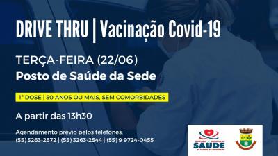 População com 50 anos ou mais pode receber a vacina contra a Covid-19 na próxima terça-feira (22)