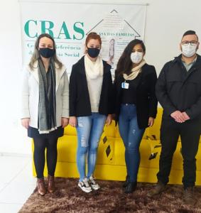 CRAS esteve reunido com equipe de Restinga Seca