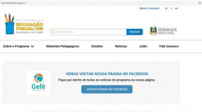 Educação Fiscal do Governo do Estado conta com novo site