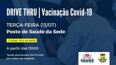 Saúde vai vacinar contra a Covid-19 pessoas com 39 e 40 anos