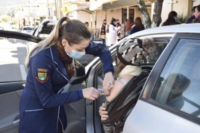 Faxinal do Soturno chega a 61% da população vacinada com a 1ª dose