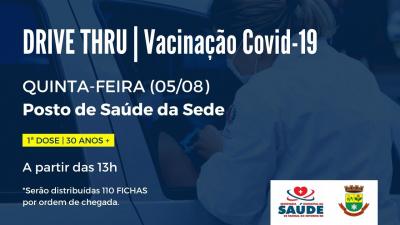 Vacinação contra a Covid-19 chega a faixa etária dos 30 anos nesta quinta-feira (5)