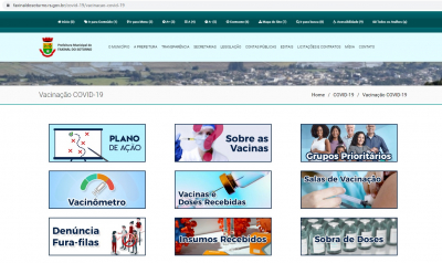 Faxinal é campeã na transparência sobre a vacinação contra a Covid-19 entre os municípios da Região Central