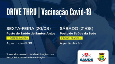 Saúde realizará mais duas etapas da vacinação esta semana