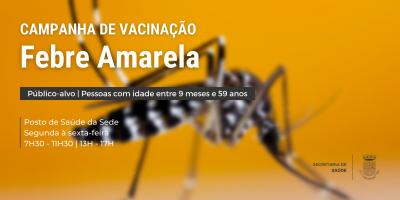 Saúde realiza campanha de vacinação contra a febre amarela