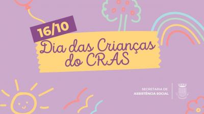 CRAS realizará evento alusivo ao Dia da Criança