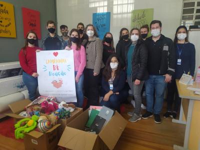 Assistência Social recebe doação de brinquedos e material escolar